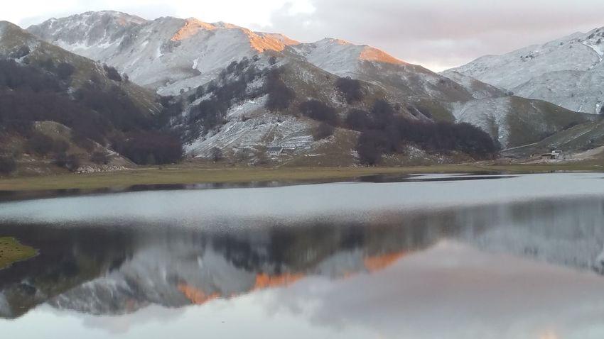 Campitellomatese 2016 Niente Neve Lago Panorama Riflesso Monti Tramonto San Massimo