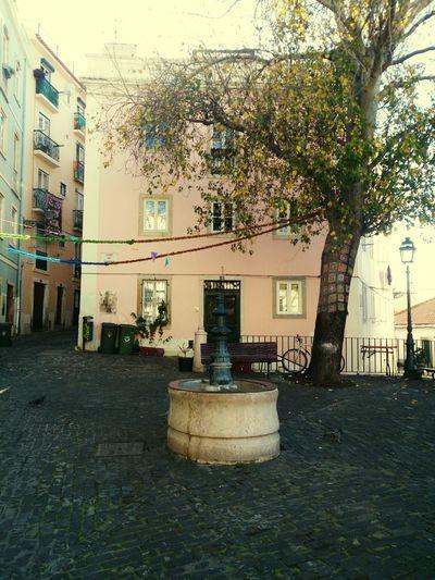 Small Fountain Beautiful Place Lisboa Lisbon No People