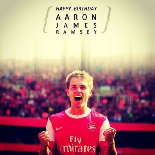 HBD 23th @AaronRamsey ! Wish you more and you can winning the EPL with @Arsenal HappyBirthdayAaron Coyg Arsenal Gooners