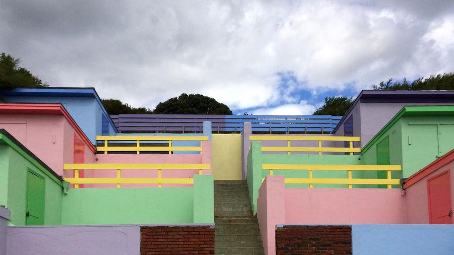 Beach huts, Folkestone Beach Huts Beach Beach Life Painted Buildings Steep Stepped Buildings Folkestone