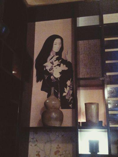 интерьер ресторана Гин-Но Таки (красивая картина) ^_^ Eating Holiday With My Friend Japan Food
