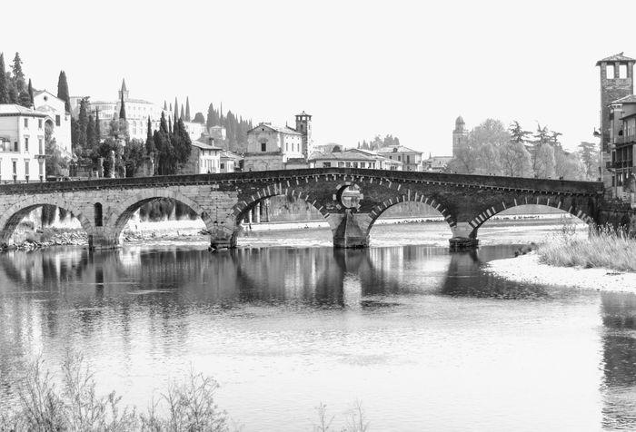 Ancient Blackandwhite Bridges Check This Out City EyeEm Best Shots Monochrome Popular Photos Reflection River Simmetrical Stones Streetphotography Verona
