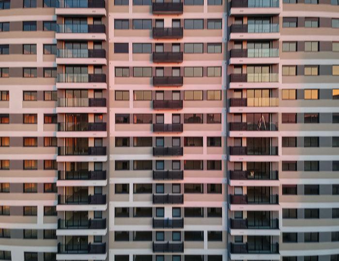 Full frame shot of building against sky