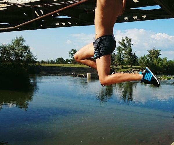 Jumping ,water
