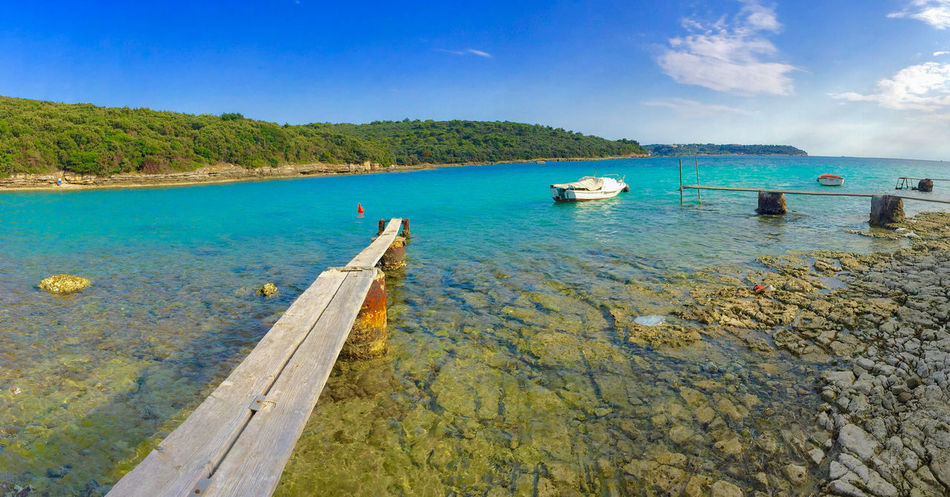 Beauty In Nature Blue Sky Boats Croatia Harbour Istria Nature Outdoors Pontoon Pula Scenics Sea Stinjan Summer Tranquil Scene Travel Destinations Water The Secret Spaces The Great Outdoors