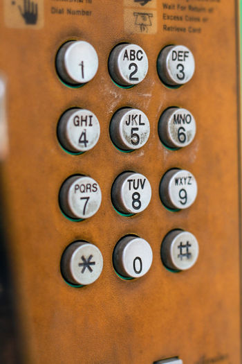 Close-up Communication Day Indoors  No People Number Numpad Telephone