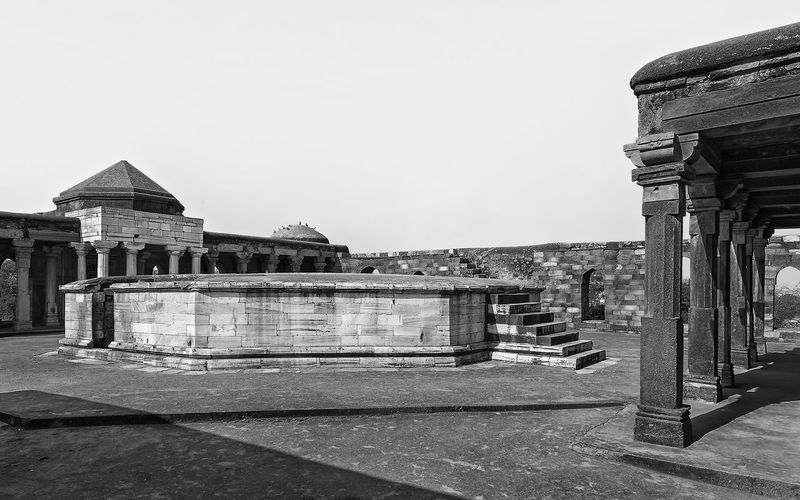 This image is part of my ongoing project covering the last resting places of Delhi Sultanate. Delhi Sultanate Delhi Sultanate Tomb Monochrome Travel Sky Architecture Building Exterior Built Structure Gate Entrance Historic