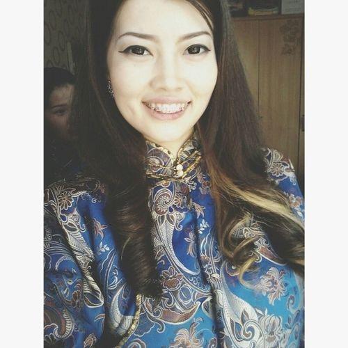 Mongolian Girl Mongolian National Clothes #дээл