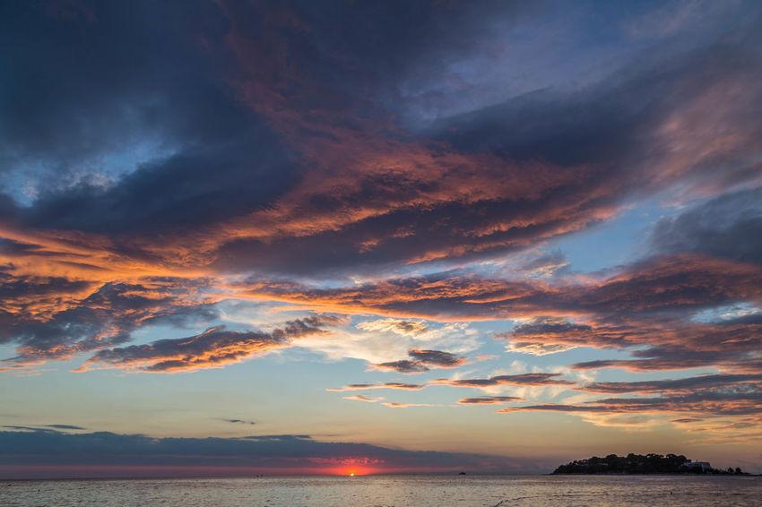 Beautiful Croatian skies... Cloud Cloudscape Croatia Croatian Coast Porec, Croatia Poreč Coast Beauty In Nature Cloud - Sky Clouds And Sky Horizon Over Water Idyllic Landscape Nature Porec Scenics Sea Sea And Sky Seascape Sky Sky Porn Sunset Sunsets Tranquil Scene Tranquility Water