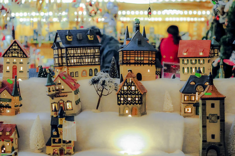 Miniature model houses on sale at the Christmas market in Frankfurt am Main in Germany. Christmas Christmas Market Christmas Time Houses Christmas Decoration Christmas Ornament Christmastime Close-up House Miniature Model No People On Sale Small Souvenier White