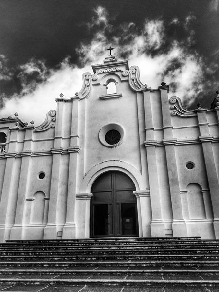 Religion Spirituality Place Of Worship Architecture Built Structure Low Angle View Outdoors Cloud - Sky Building Exterior Day Sky Façade No People