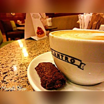 Piece Of Cake .. With Some Of Cappuccino .. At Celantro .. Relax And Be The King of Your Self