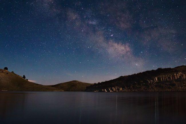 Stars Milky Way Night Nightphotography Long Exposure Lake Bright Night Night View Nightshot Mountain Water Night Sky Sky Galaxy Astronomy Landscape