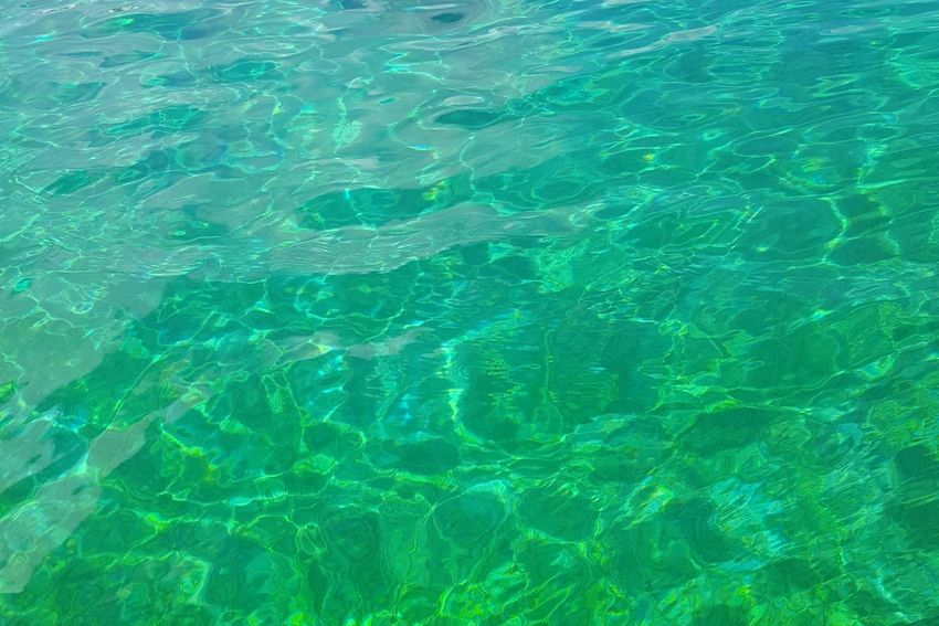 The green sea Sunlight Outdoors Swimming Pool Water Day Green Color Nature No People Sea Scenics Close-up Beauty In Nature Freshness Architecture 일본 Travel Destinations Building Exterior