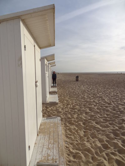Vacation in Belgium Belgium Day At The Beach Beach Cabins Belgien Cabin Ostende Sky Sun
