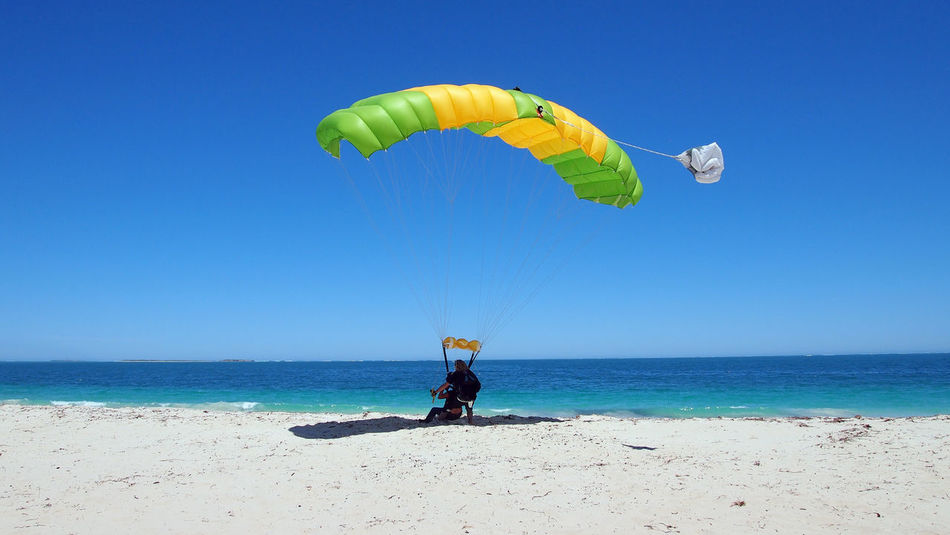 Australia Clear Blue Sky Clear Sky Holiday Holidays Parachute Jump Travel Travel Photography Traveling Travelling Vacations Wanderlust Western Australia Adult Adults Only Beach Beauty In Nature Blue Blue Sky Clear Day Clear Sky Day Full Length Horizon Over Water Jurien Bay Leisure Activity Men Nature One Man Only One Person Only Men Outdoors Parachute Parachute In The Sky People Real People Scenics Sea Sky Skydive Skydive Jurien Bay Skydiver Skydiving Travel Destinations Vacation Water