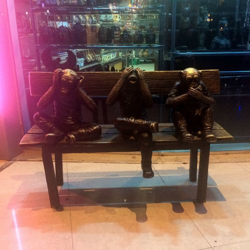 🙉🙈🙊 Wilde Animal Themes Animal Soho Square Sharm El Sheikh Egyptphotography Egyptian Culture Egyptian Egypt Sharm El Sheik Sohosquare Seat Chair Indoors  Table Glass - Material Window No People Reflection Illuminated Food And Drink Transparent Luxury Business