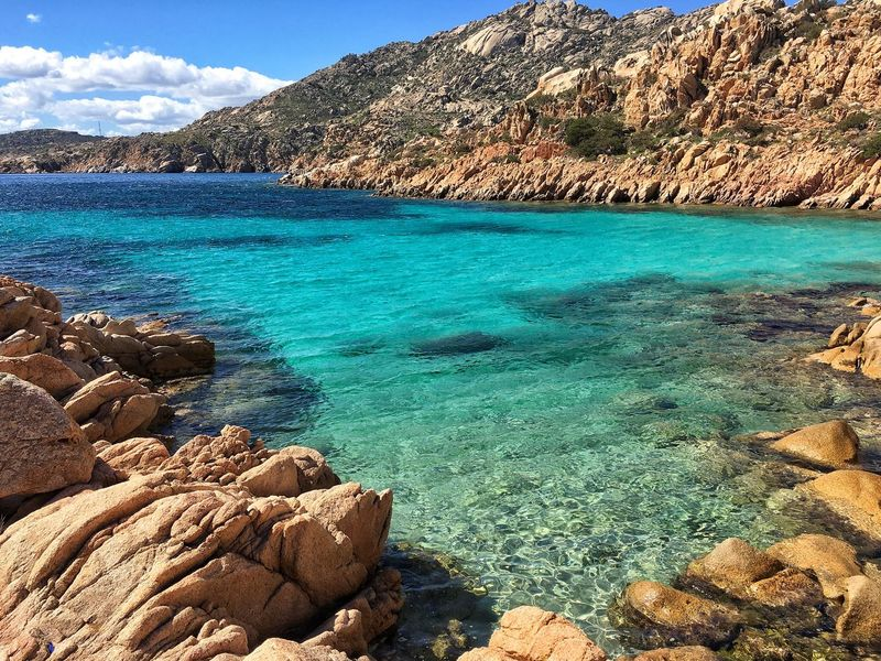 Beauty In Nature Rock - Object Sea Nature Scenics Water Tranquil Scene Sky Outdoors Beach Day No People EyeEm Gallery EyeEm Masterclass Eyeem Market Sand EyeEm Best Shots - Landscape EyeEm The Best Shots Tranquility Landscape Beauty In Nature Nature Cala Coticcio La Maddalena Colors Of Nature
