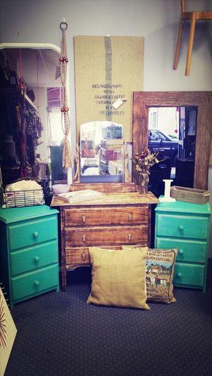 Vintage Dresser Upcycled Bedsides Teal