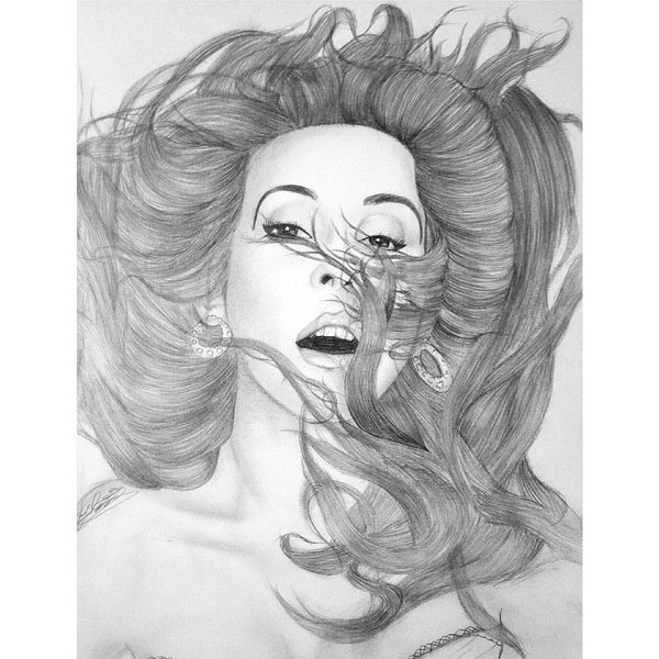 Ellie Goulding Drawing Portrait ArtWork Revival Photography Exposure Pencil Lights Elliegoulding Onmymind