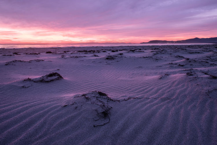 Sunset Sand Sky Scenics - Nature Tranquility Land Beauty In Nature Tranquil Scene Pink Color Nature Landscape Cloud - Sky No People Purple Environment Sea Beach Water Outdoors Romantic Sky EyeEm Nature Lover EyeEm Best Shots EyeEm Selects EyeEm Gallery My Best Photo The Great Outdoors - 2019 EyeEm Awards