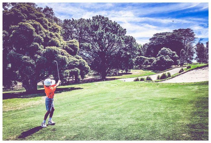 Not the bunker Golf Action Shot Just Golf Sport Photography Par 3 Australian Golf Golf Fairway On Golf Course Junior Golf Sky Day Child Childhood One Person Leisure Activity Lifestyles Nature