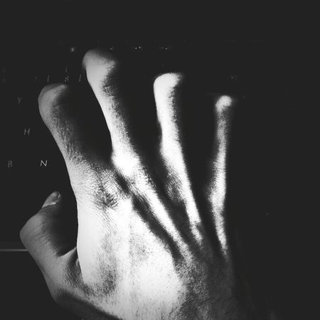 Technology Tech Programming Code Coding Human Hand Human Body Part People One Person Black And White Blackandwhite B&w First Eyeem Photo