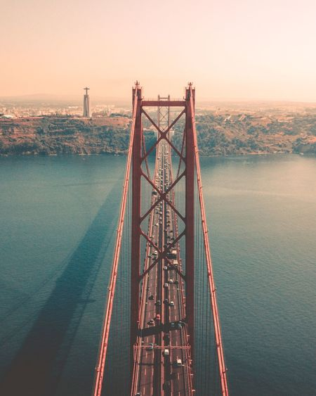Another view from this incredible bridge 🌉 Bridge Sony A6000 Travel Naturelovers Travel Destinations Bucketlist Wanderlust Nature_collection Nature Photography Wonderful Place Drone  Fromwhereidrone Sony Water Built Structure Connection Nature Sky Sunset Bridge Architecture Engineering Outdoors Bridge - Man Made Structure Sea Transportation Scenics - Nature Metal Fuel And Power Generation Beauty In Nature