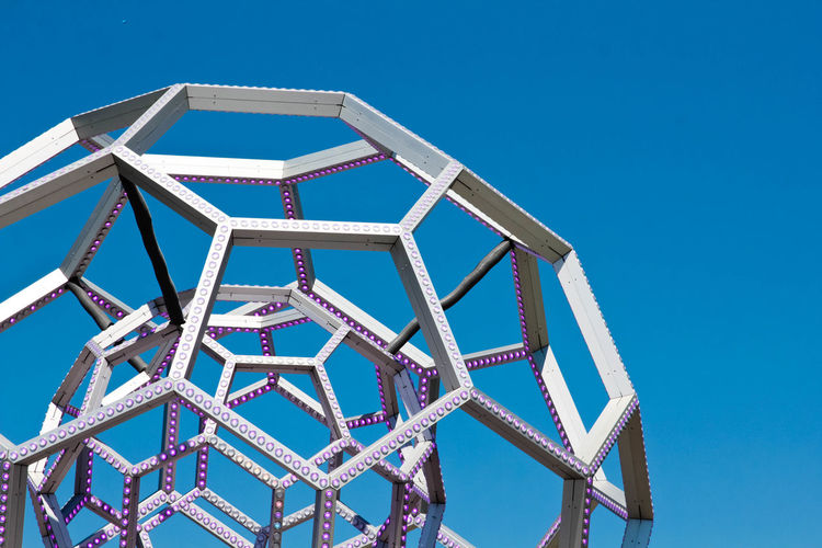 Low Angle View Of Sculpture Against Clear Sky