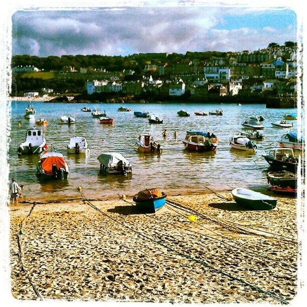St Ives St Ives Harbour St Ives Bay Beach Sea Boats Cornwall