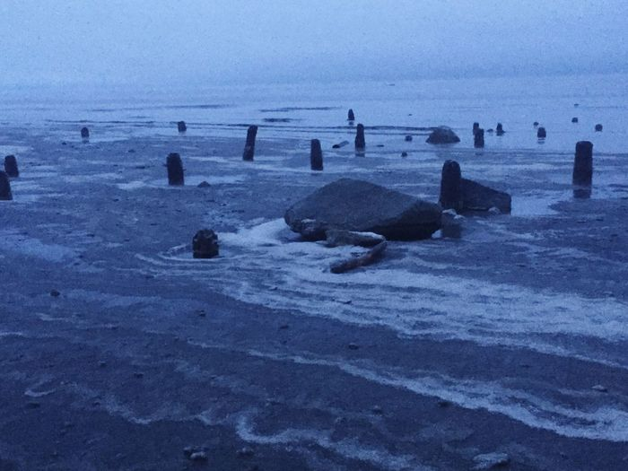 Alaska Winter Ocean Beach Surf