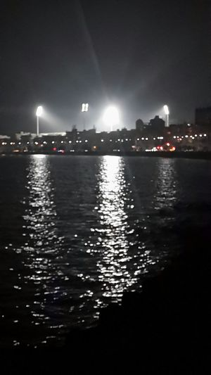 Floodlight Nightphotography Seaside Water Reflections Nightscape EyeEm Best Shots Narimanpoint