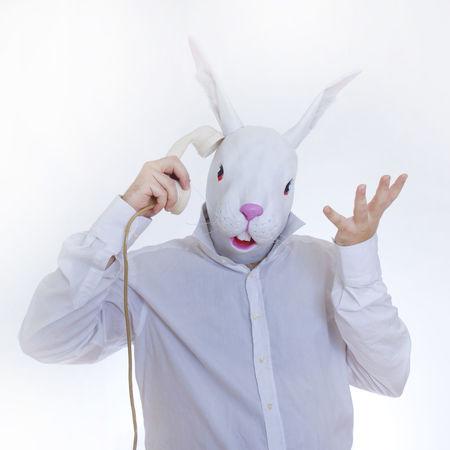 Fancy Dress Funny Handset Masked Phone Rabbit