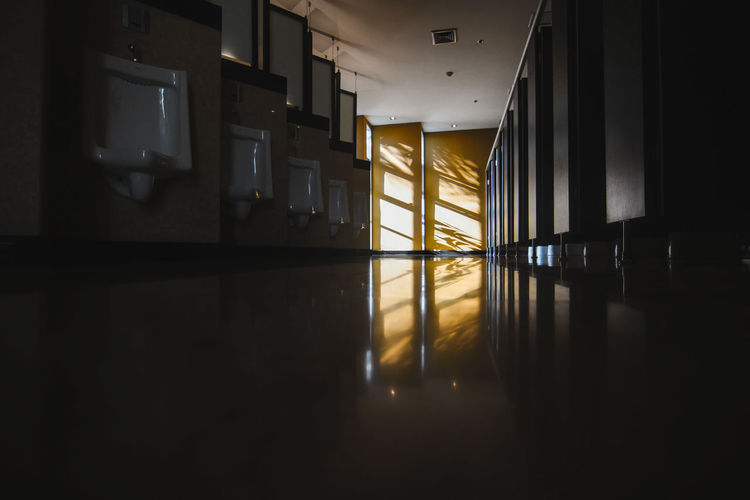 Empty corridor of building