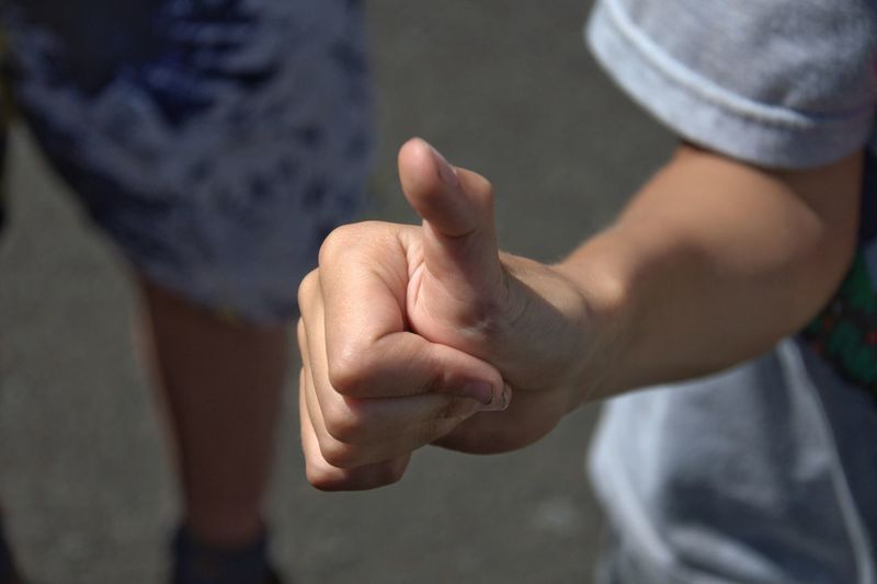 Close-Up Of The Hand Of A Child