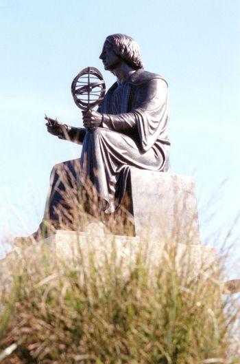 Art Bronze Bronze Statue Cupernicus Globe Outdoors Sky Statue