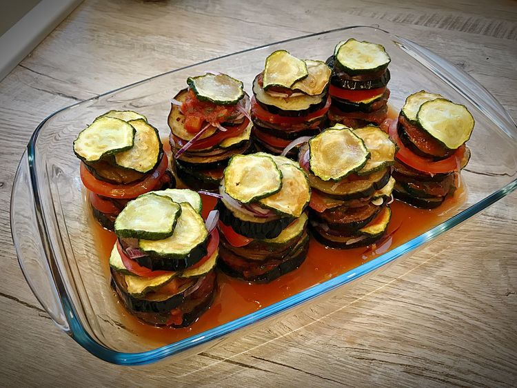 Ratatouille du chef Chef Love Fashion Foodporn Ratatoullie Germanblogger Food And Drink Food Still Life Table Ready-to-eat Freshness Indoors