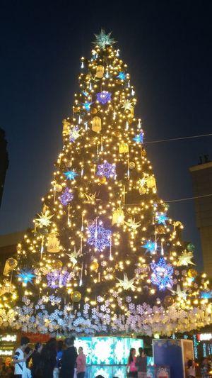 Christmas Tree Christmas Decoration Christmas Lights Christmas Ornament Night Tree Christmas Sky Outdoors