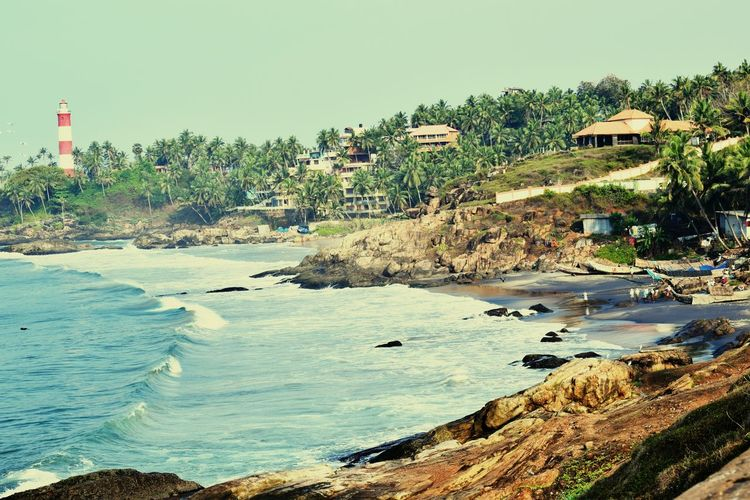 Kovalam Beach Lighthouses Beach