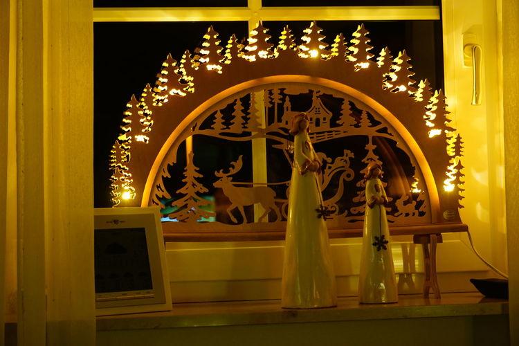 Schwippbogen Christmas Lights Christmas Decoration Weihnachtszeit Weihnachtsstimmung Weihnachtslichter Night Indoors