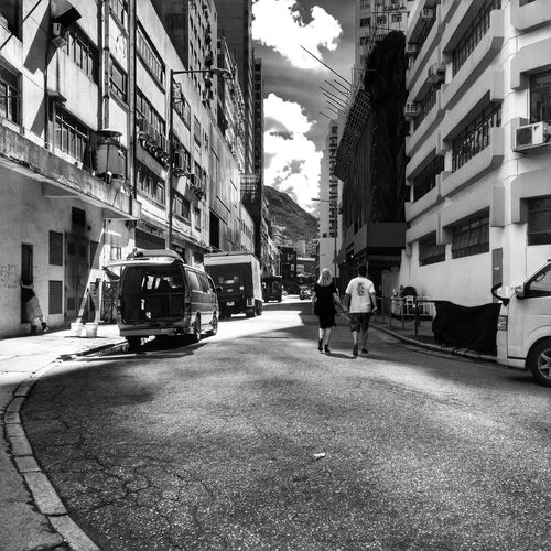 Streetphotography Streetphoto_bw Monochrome HDR Hdr_Collection Enjoying The Sun Love Industrial Depth Of Field Summer Summertime Summer Views Couple Morning Sunlight Sunlight And Shadow Clouds And Sky On The Road Eye4photography  Blackandwhite Blackandwhite Photography View From Behind Showcase June