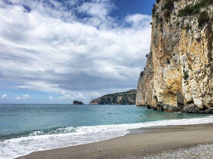Beach Sea Water Sky Land Cloud - Sky Beauty In Nature