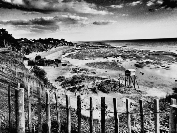 Blackandwhite Photography B&w Photography B&W Collection B&w Photo Sea Beach Nature Horizon Over Water Cloud - Sky Sky Water Beauty In Nature Outdoors No People Sand Scenics Tranquil Scene Low Tide High Angle View La Bernerie En Retz Loire-atlantique France🇫🇷 Wide Shot Wide Angle HuaweiP9Photography Beauty In Nature