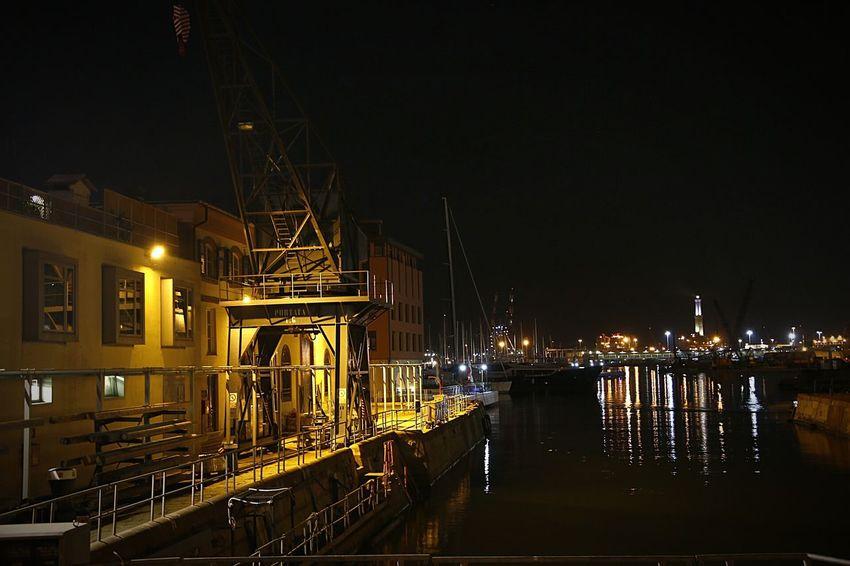 Illuminated Night No People Industry City Genova Night 3XPUnity 3XPSUnity City Cityscape Reflection Expo Genova Nightlife Water