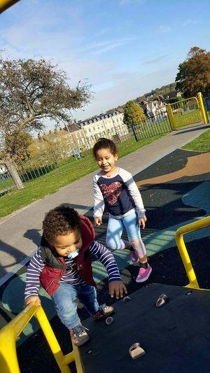 My Kids Sunlight Outdoors Happiness