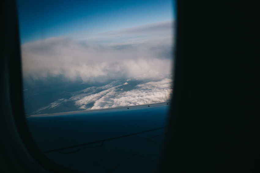 Above The Clouds Aerial View Aircraft Wing Airplane Beauty In Nature Blue Cloud Cloud - Sky Cloudscape Enjoy The New Normal Day Idyllic Journey Landscape Majestic Mode Of Transport Nature No People Part Of Scenics Showcase April Sky Tranquil Scene Vehicle Interior Window
