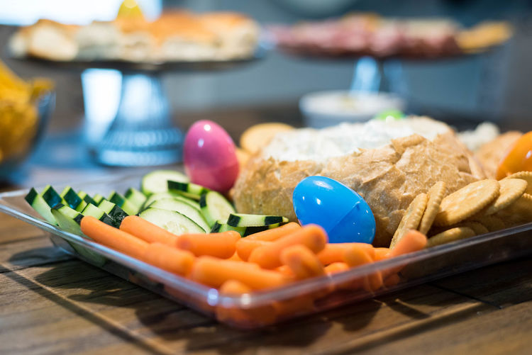 Close-up Easter Easter Dinner Easter Eggs Easter Snacks Food Food And Drink Freshness Indoors  No People Plate Ready-to-eat Selective Focus Snack Vegetable
