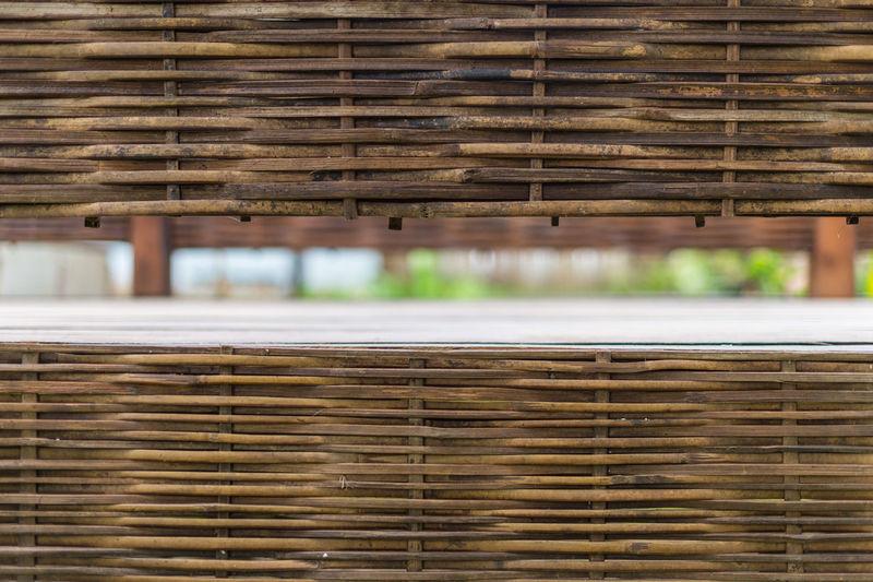 Full frame shot of wicker basket