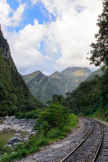 Peru Peru Rail Travel Day Mountain Nature No People Outdoors Rail Transportation Railroad Track Sky Transportation The Great Outdoors - 2018 EyeEm Awards The Traveler - 2018 EyeEm Awards