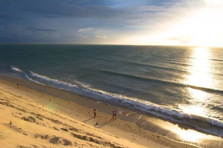 Sunset View From Above Dunes View From The Dune Golden Hour Beach